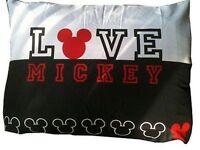 Disney Classic Mickey Mouse Pillow Sham Zippered Pillowcase