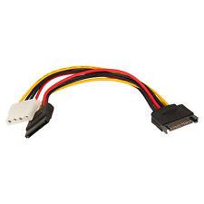 Adapter Y-Kabel SATA Power Male auf 1x SATA Power Female und 1x Molex 4 Pin 1:2