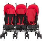 OBaby 13OB5004 Black Umbrella Triple Seat Stroller