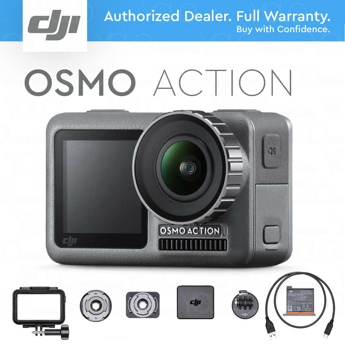 DJI Osmo Action 4K HDR Video Camera, RockSteady Stabilization, DUAL SCREENS action dji dual hdr osmo rocksteady screens video