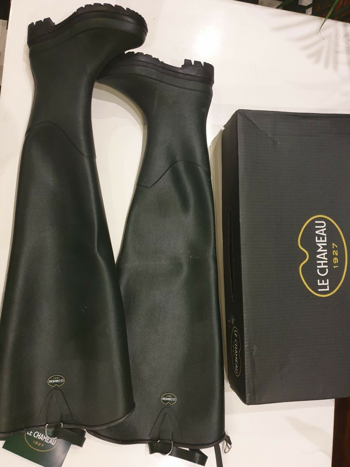 Le Chameau Delta Lim Green Thigh Waders Wellington Wellies  size 37 SALE