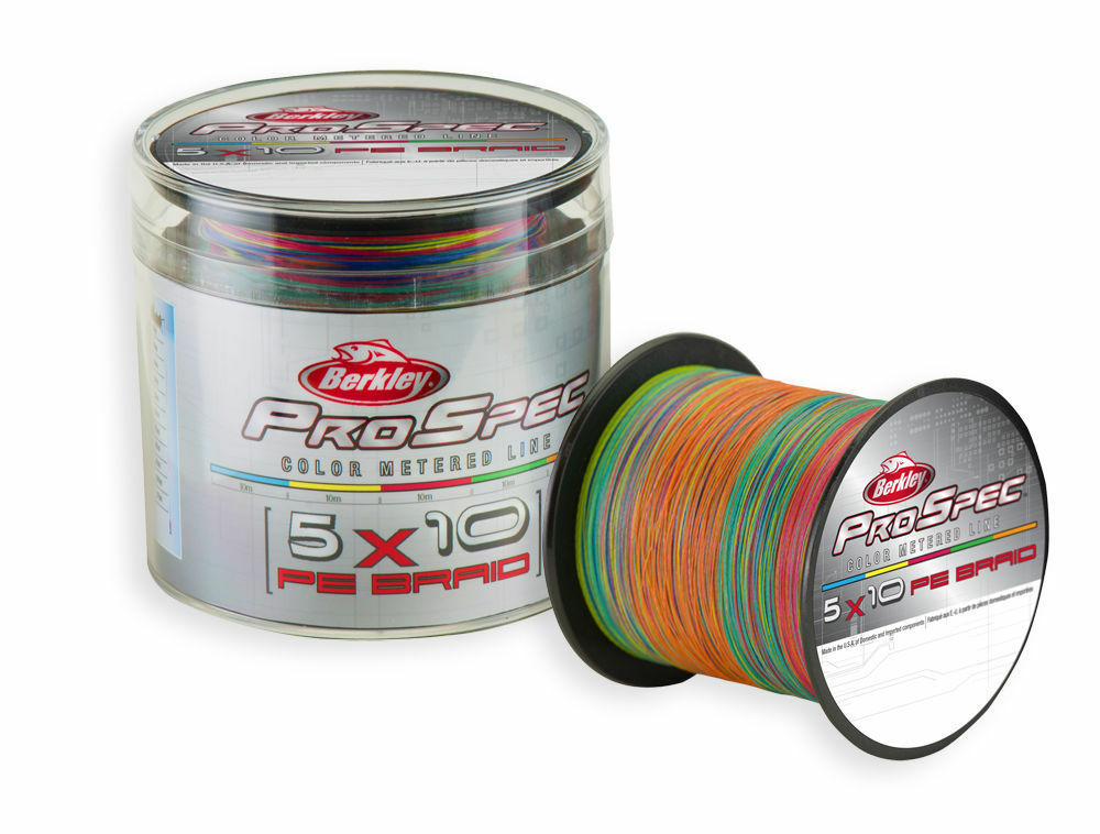 BERKLEY PRO SPEC 5x10 MULTICOLOR PE BRAID - 450m Spool   0.25-0.38mm   65-100Lbs