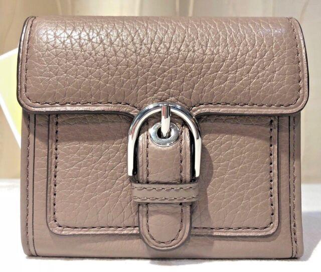 a0c07afa8879 Michael Kors Cooper Med Carryall Pebbled Cinder Leather Wallet Clutch  Trifold 3m