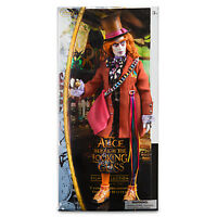 Disney Store Alice Through The Looking Glass Mad Hatter Johnny Depp 13 Doll