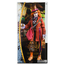 Disney Store Alice Through the Looking Glass Mad Hatter Deluxe Doll ImperfectBox