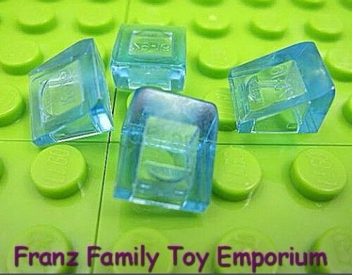 New LEGO Mini Slopes Lot of 4 Translucent Blue 1x1x2//3 Roof Ice Brick Part