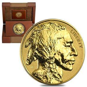2013-W-1-oz-50-Reverse-Proof-Gold-American-Buffalo-w-Box-amp-COA