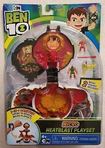BEN 10 Micro Heatblast Playset 2-IN-1 Omnitrix Cartoon Network Playmates Toy Set