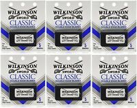 Wilkinson Sword Classic Double Edge Razor Blades (6 Packs Of 5 = 30 Blades)