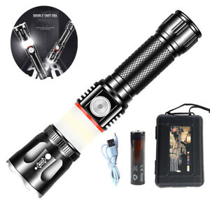 1000-Lumnes-Magnetic-T6-Zoom-USB-Rechargeable-Flashlight-LED-18650-COB-Torch