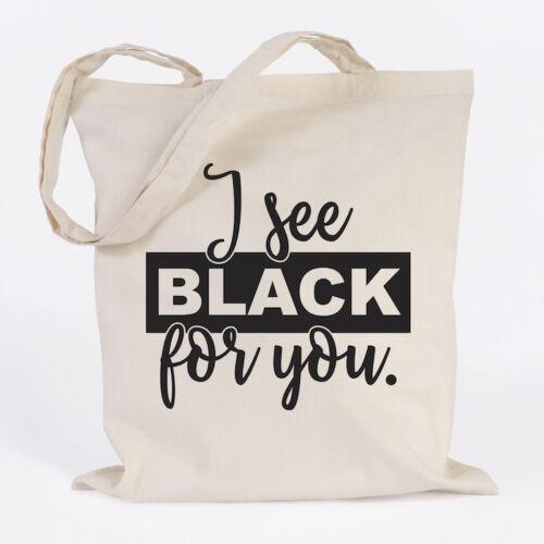 "Farben Geschenk Tasche JUNIWORDS Jutebeutel Motiv /""I see black for you./"" versch"