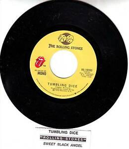 ROLLING-STONES-Tumbling-Dice-Sweet-Black-Angel-7-45-rpm-vinyl-record-NEW