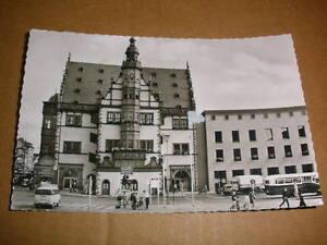 Schweinfurt-1962-Rathaus-Menschen-Autos