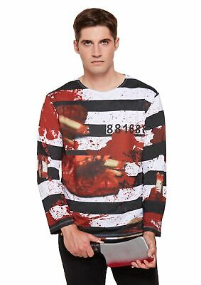 HALLOWEEN BLOOD SPATTER T Shirt Zombie Undead  Gunshot Wound Fancy Dress UK