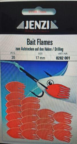 Bait Stopper für Naturköder Köderfisch Sytem JENZI Bait Flames Red Köderstopper