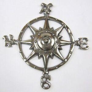 Aluminium Brenton Compass Antique Marine Compass Vintage Maritime Compass Decor.