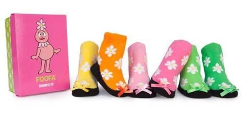 6 Pair TRUMPETTE Yo Gabba Gabba Foofa 0-12 month Baby Girl socks