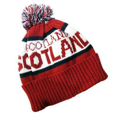Red Scotland Beanie Hat New scts035