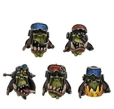 Kromlech BNIB Orc Pilot Heads (10)