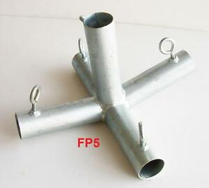 5 Way Top Center Low Peak W Leg Canopy Fitting P5fb 1