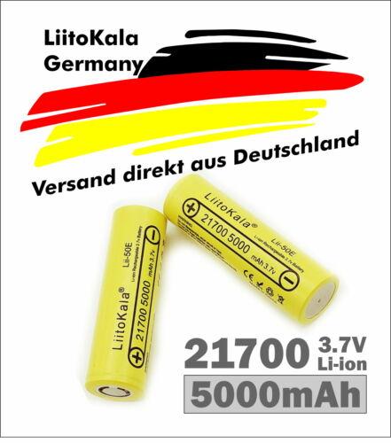 Liitokala Lithium Akku 21700 3.7V 5000mAh  e-bike Taschenlampe PORTOFREI AUS DE