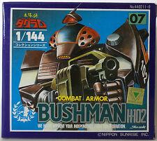DOUGRAM : COMBAT ARMOR BUSHMAN H-102 BOXED DIE CAST FIGURE - 1/144 SCALE