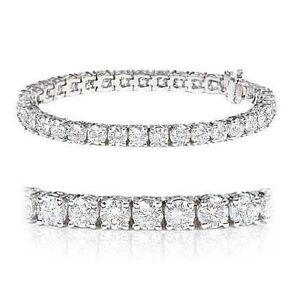 Bargain-4-27-Carat-Round-Diamond-Tennis-Bracelet-UK-Hallmarked-White-Gold