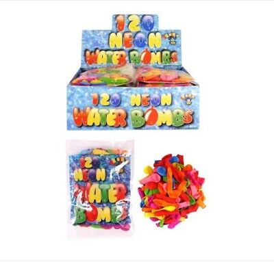 20//40//60//80//100 Water Balloons Neon Colours Water Bombs Summer Party Bag Fun Toy