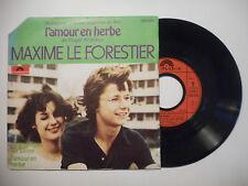 MAXIME LE FORESTIER : B.O.F. L'AMOUR EN HERBE ♦ 45 TOURS PORT GRATUIT ♦
