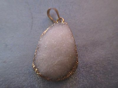 Druzy Agate Angel Silver Gold Rainbow Blue Colors Size Approx 25x40mm