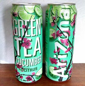 6x new 2017 arizona green tea cucumber with citrus six full