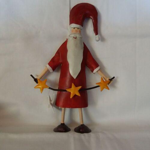 21cm hoch schöner Weihnachtsmann ** 20/% reduziert ** Metall Deko
