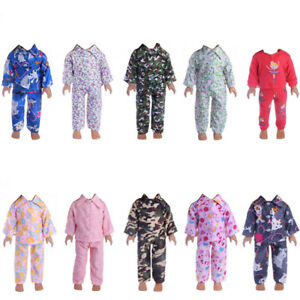 Handmade-Fashion-Clothes-Pajamas-Sleepwear-for-18-inch-American-girl-doll-party