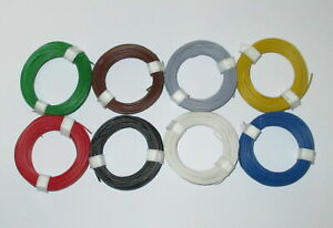 0-125-M-Stranded-Wire-Flexible-18x0-10-8-Rings-a-10-Meter-New