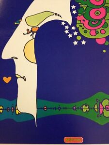 Vintage-Rare-Peter-Max-Psychedelique-Art-Poster-Midnight-Dream-Cosmic-Kiss