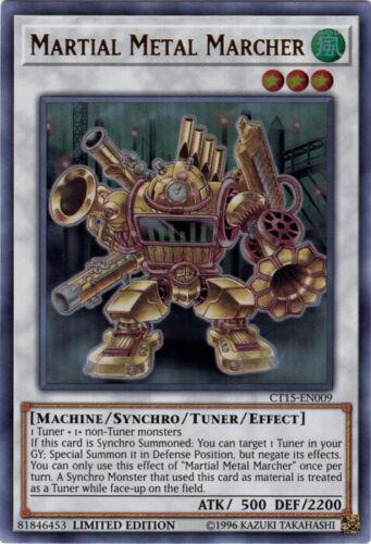 Limited Edition NM YuGiOh! 1x Martial Metal Marcher CT15-EN009 Ultra Rare