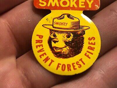 Smokey Bear rejoindre Smokey la campagne de prévenir les incendies de forêt Vintage Rond 1 1//2 bouton