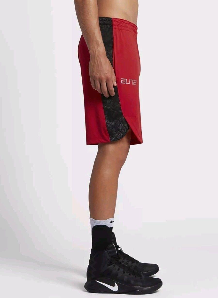 21bf531e1e7a ... Nike Elite Sollevamento 9 Uomo Drifit Basket Palestra Palestra Palestra  Shorts Rosso Nero 628ce5 ...