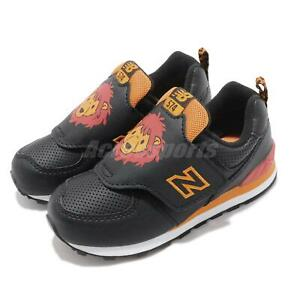New-Balance-IV574ZOL-W-Wide-Black-Orange-Lion-TD-Toddler-Infant-Shoes-IV574ZOLW