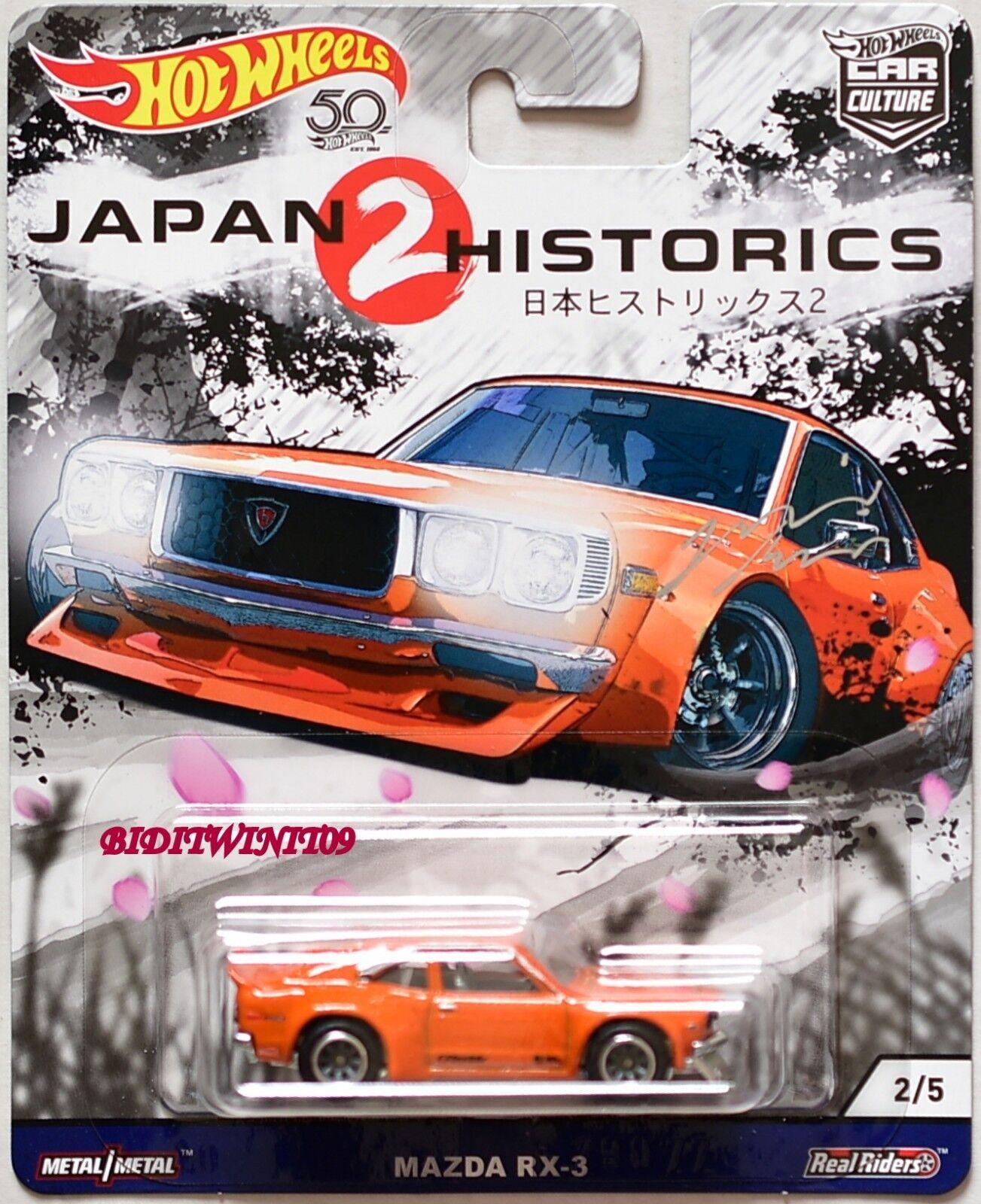Hot Wheels 2018 Japón Historics 2 Mazda RX-3 Firmado por por por Julian Koiles con + 62ac8a
