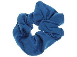 Girls-Royal-Blue-School-Jersey-Style-Hair-Scrunchie-Elastic-Bobble-Work-Gym