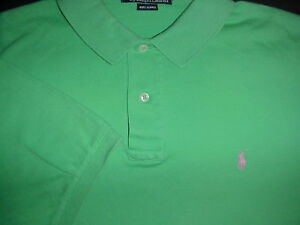 Polo-Ralph-Lauren-Women-039-s-Polo-Shirt-Size-M-Green-w-Pink-Pony