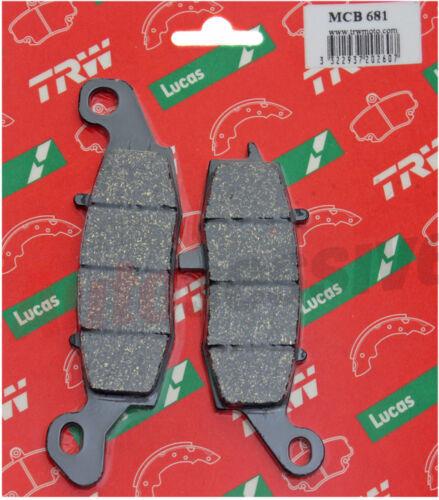 TRW Rear Brake Pads Pair Lucas MCB681 Kawasaki VN 1500 Mean Streak VNT50P 02