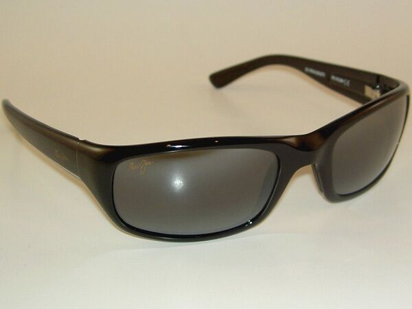 b231b7559b9 Maui Jim Sunglasses Unisex MJ 103 Black 2 Stingray 55mm for sale online