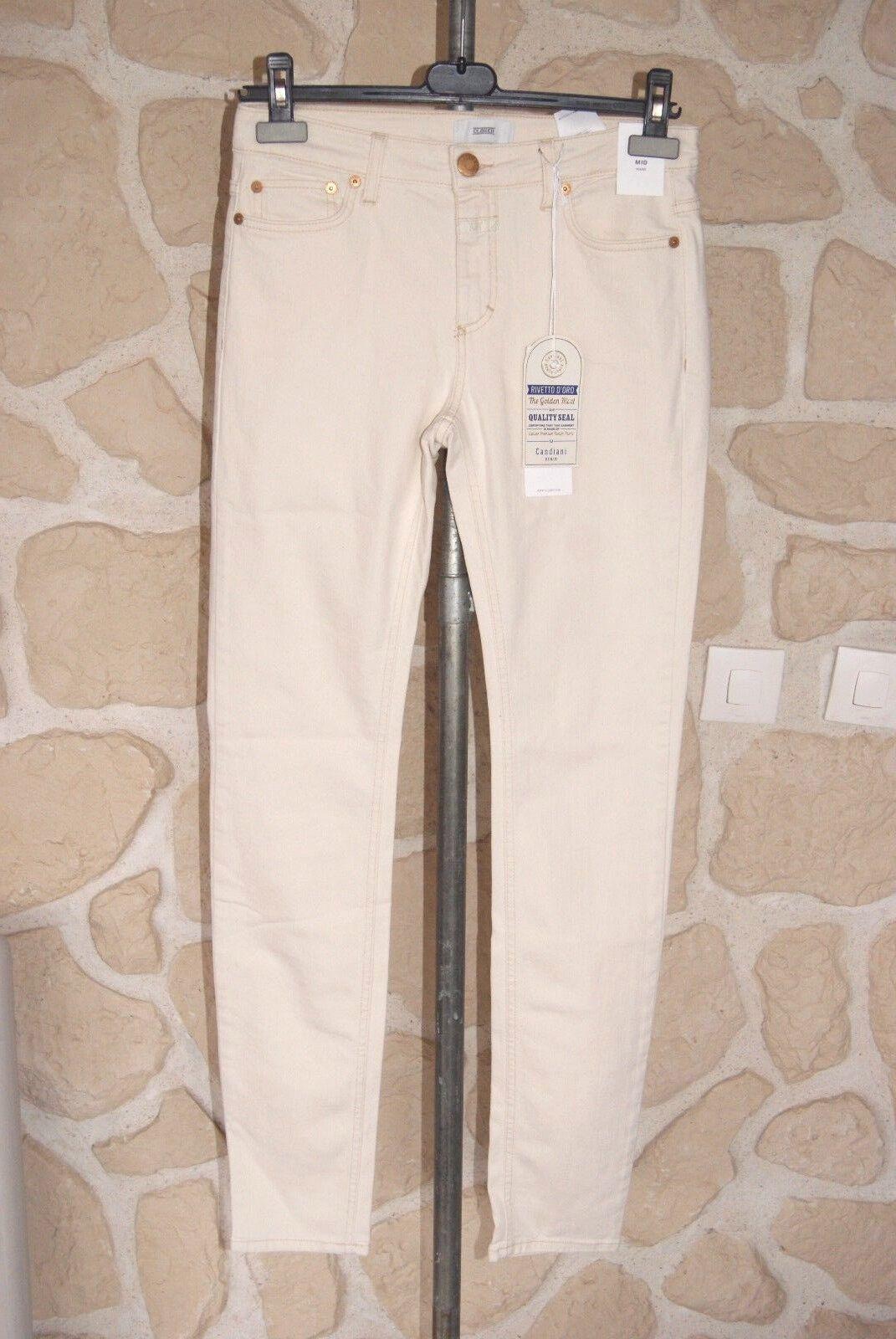 Jeans écru neuf size 28 (fr 38) marque CLOSED skinny étiqueté à