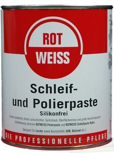 rotweiss schleif und polierpaste 750 ml 22 53 eur liter ebay. Black Bedroom Furniture Sets. Home Design Ideas