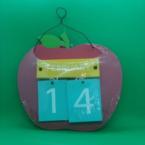Hanging Wooden Decorative Apple Calendar