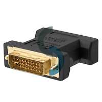 DVI-I male Analog (24+5) to VGA Female (15-pin) Connector Adapter dual link