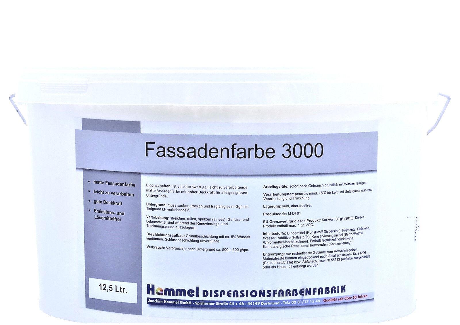 ( /L) 12,5 L FASSADENFARBE 3000 - RAL 9016 - VERKEHRSWEISS - MATT -