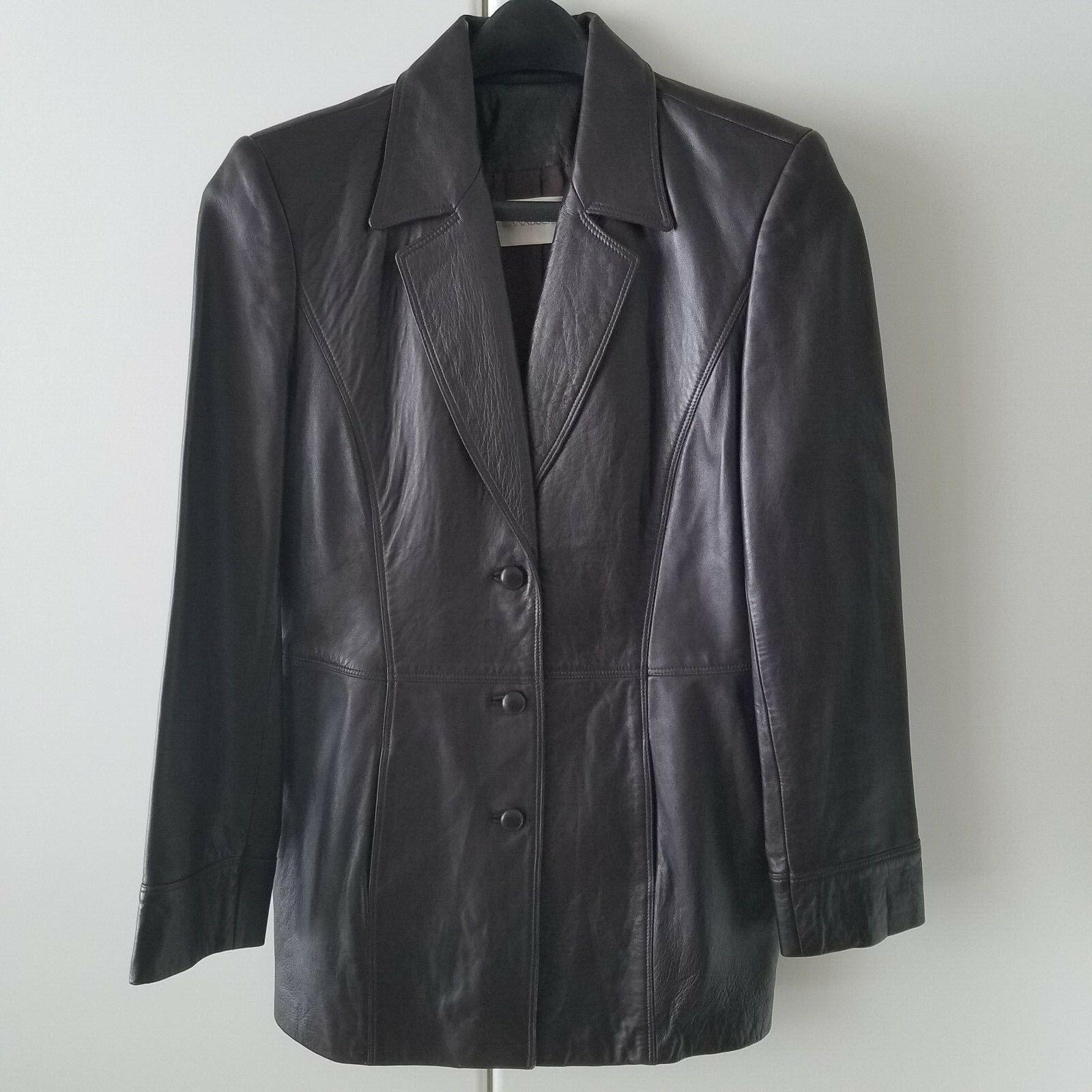 Dana Buchman - Dark Brown Very Soft Leather Blazer - Women's Size 10